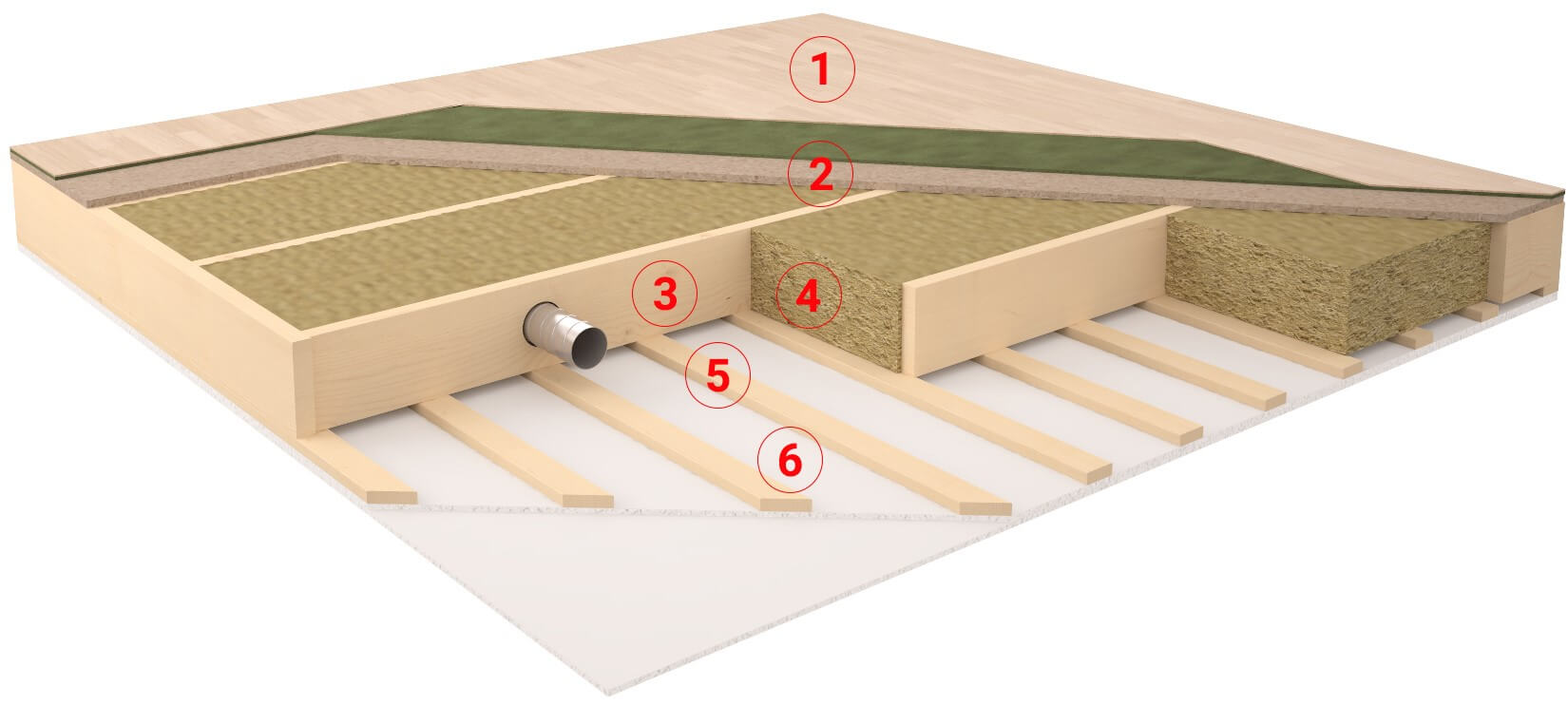 Floor- and ceiling element